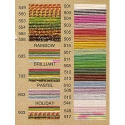 Mizuhiki Paper Cords ~ Brown Stripes on Gold