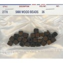 Wood Beads-Brown