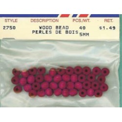 Wood Beads-Fuchsia