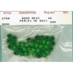 Wood Beads-Green