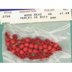 Wood Beads-Orange