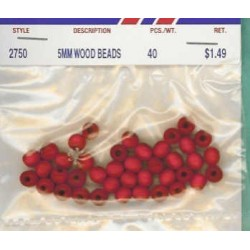 Wood Beads-Red