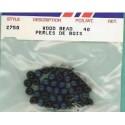 Wood Beads-Royal Blue