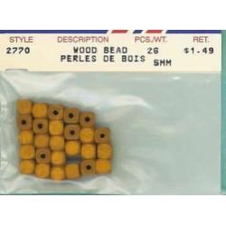 Wood Beads-Tan