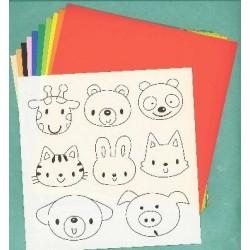 150 mm_  10 sh - Sticker Colored Paper