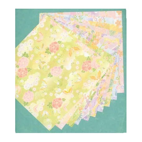 Origami Paper Large Size Chiyogami - 300 mm - 20 sheets - photo#39