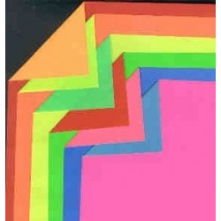Origami Paper Double Sided Florescent Colors  - 180 mm -  6 sheets