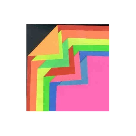 180 mm_   6 sh - Double Sided Florescent Colored Paper