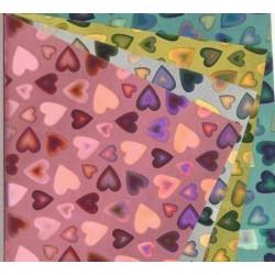 150 mm_   5 sh - Magical Laser Origami Heart Paper