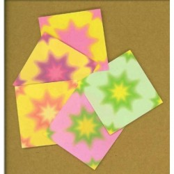 051 mm_ 180 sh - Floral Colored Origami Paper