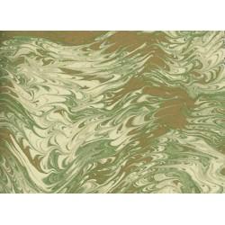 Grafiche Tassotti Decorative Paper  - Marbled Green-Gold - 70cm