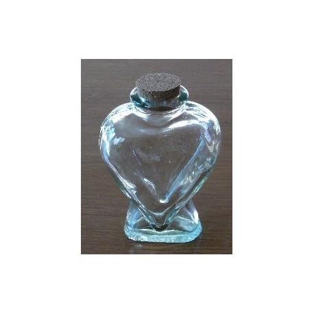 Small Heart Shape Clear Glass Jar