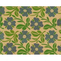 Kraft Paper by Kartos With Flower Print