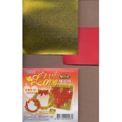 050 mm_   50 sh - Two Sizes Red and Gold Paper