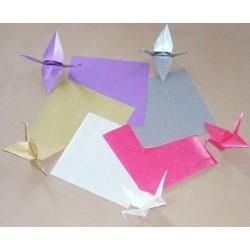 300 mm_  10 sh - Glitter Pearlized Origami Paper