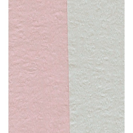 100 mm_  12 sh - Crepe Paper - Double Sided Pink/White