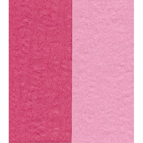 Crepe Paper - Double Sided Pink and Dark Pink - 150 mm - 12 sheets