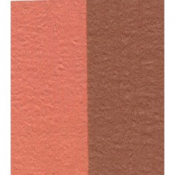 Crepe Paper Double Sided Orange and Brown - 150 mm - 12 sheets