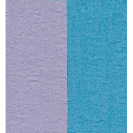 Crepe Paper - Double Sided Blue and Light Purple - 150 mm - 12 sheets