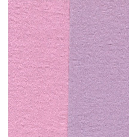 Crepe Paper - Double Sided Pink and Light Purple - 150 mm - 12 sheets