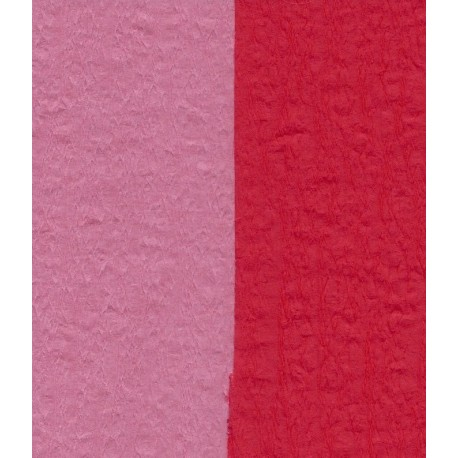 100 mm_  12 sh - Crepe Paper - Double Sided Red and Pink