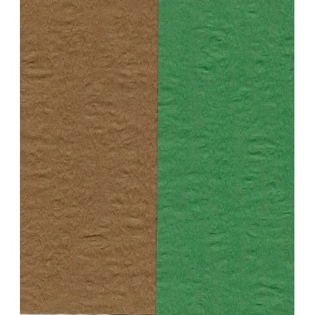 100 mm_  12 sh - Crepe Paper - Double Sided Green and Brown