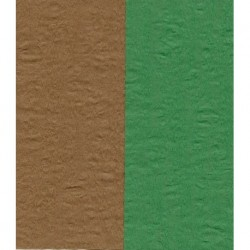 Crepe Paper - Double Sided Green and Brown - 150 mm - 12 sheets