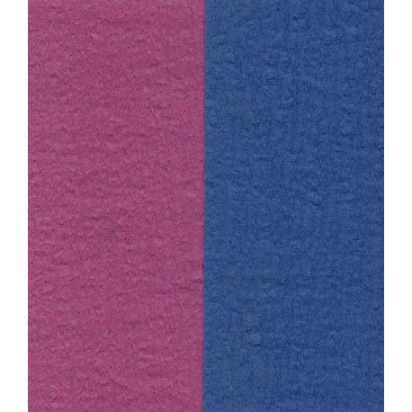 Crepe Paper - Double Sided Blue and Dark Pink - 100 mm - 12 sheets