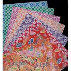 150 mm_ 100 sh - Origami Paper - 10 Chiyogami Prints