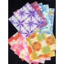 110 mm_  12 sh - Itajime Hand Made Washi Paper