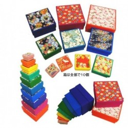 10 Square Stacking Washi Boxes