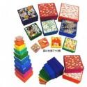10 Square Stacking Washi Boxes