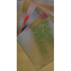 150 mm_   6 sh - Handmade Washi Paper With Gold Back