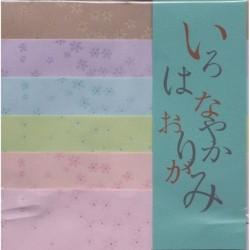 148 mm_   6 sh - Washi Paper - Pastel Cherry Blossom Print