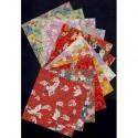 Origami Paper  Handmade Silkscreen Washi Patterns - 120 mm - 12 sheets