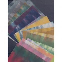 150 mm_  20 sh - Washi Handmade Paper Itajimeshi Hand-Dyed