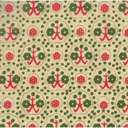 Carta Varese - Flower Trees-Red and Green