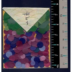 Washi Paper Set Grapes and Leaf Punch Outs