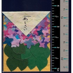 Washi Paper Set Hydrangea and Leaf Punch Outs
