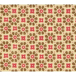 Carta Varese - Brown And Red Flowers Big And Small