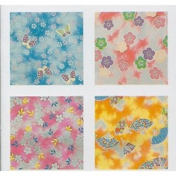 150 mm_  12 sh - Chiyogami Print Foil Back Paper
