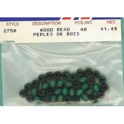 Wood Beads-Lt-Blue