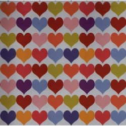 WNP - Multicolored Hearts Pattern Paper
