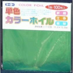 150 mm_ 100 sh - Green Foil Paper