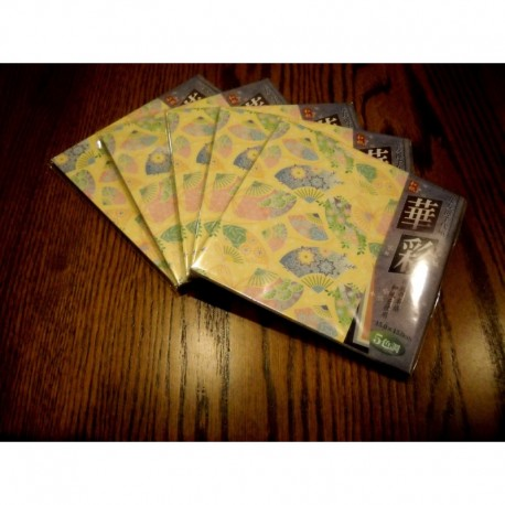 Origami Paper Fan and Floral Pattern - 150 mm - 25 sheets - Bulk