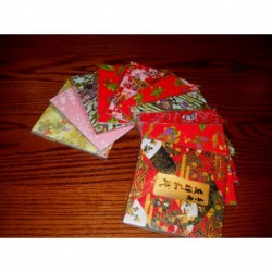 120 mm_  12 sh - Washi Paper  Silk Screen Patterns - Bulk