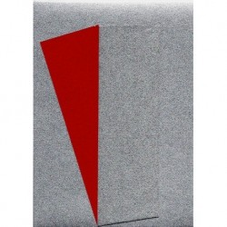Origami Paper Silver Metallic and Red Washi - 150 mm - 10 sheets
