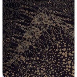 Origami Paper Black and Gold Print Washi - 150 mm - 10 sheets