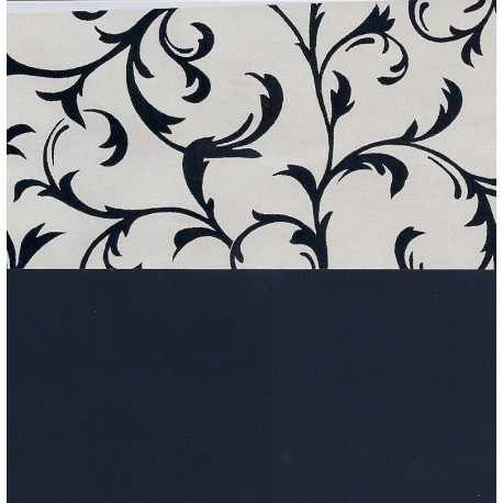 Origami Paper Double Sided Black Design on Black - 195 mm -  25 sheets