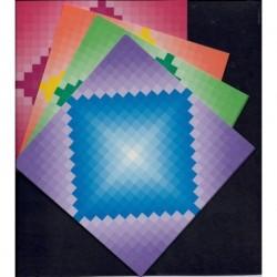 150 mm_  55 sh - Bokashi Square Origami Paper
